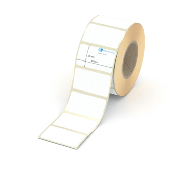 Etikett 45 x 25 mm - Thermo-Papier - weiß - permanent - 40 mm Hülse - 1000 Etiketten je Rolle