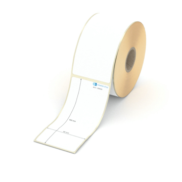 Etikett 48 x 103 mm - Thermo-Papier - weiß - permanent - 25 mm Hülse - 350 Etiketten je Rolle